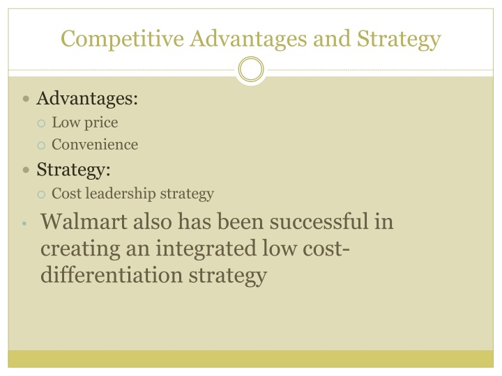 Competitive Advantages and Strategy