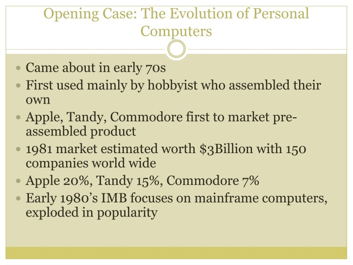 Opening case the evolution of personal computers