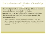 the production and diffusion of knowledge