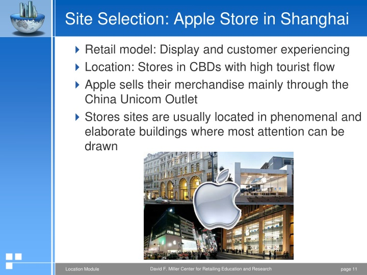 Site Selection: Apple Store in Shanghai