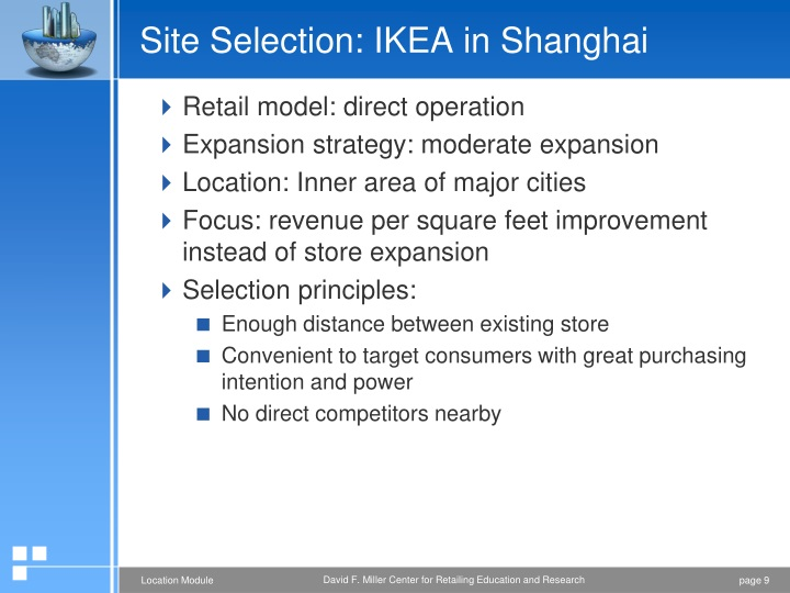 Site Selection: IKEA in Shanghai