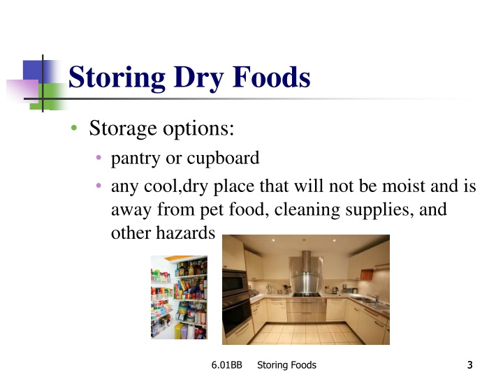 Storing Dry Foods