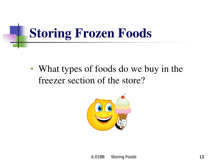 Storing Frozen Foods