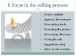 8 steps in the selling process