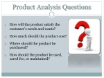 product analysis questions