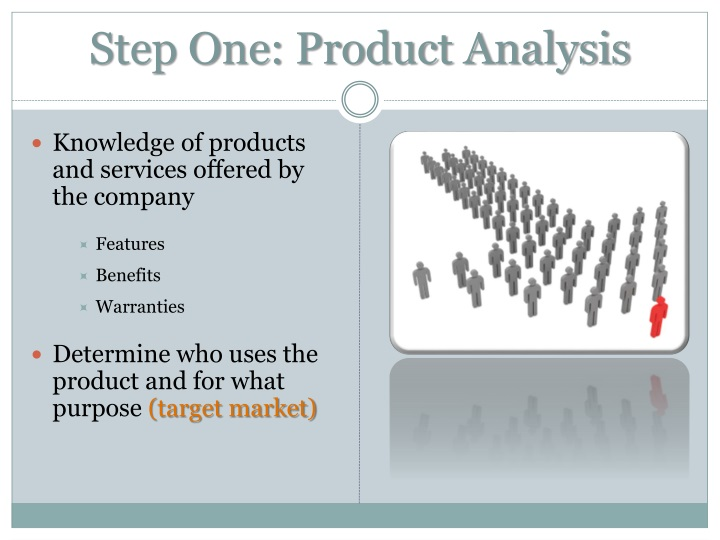 Step One: Product Analysis