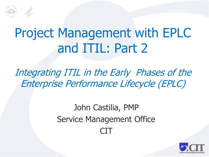 Project Management with EPLC and ITIL: Part 2