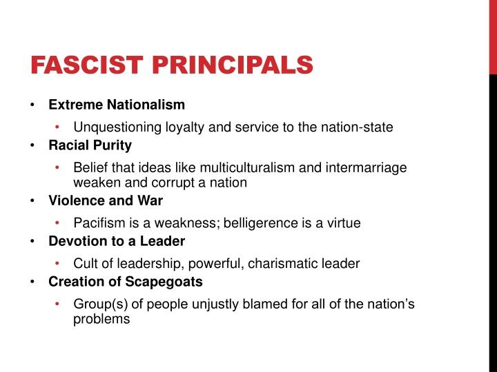 Fascist Principals