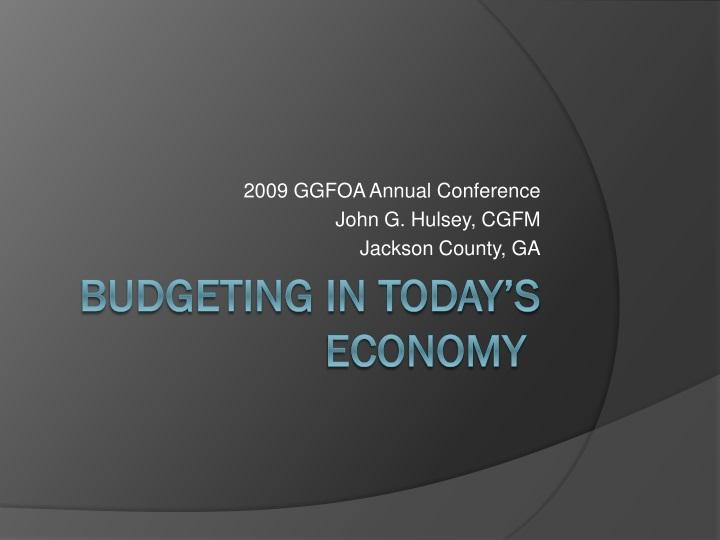 2009 ggfoa annual conference john g hulsey cgfm jackson county ga