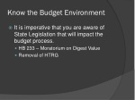 know the budget environment