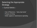 selecting the appropriate strategy