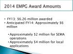 2014 empg award amounts