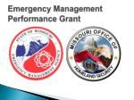 emergency management performance grant