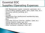 essential eoc supplies operating expenses1