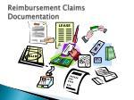 reimbursement claims documentation
