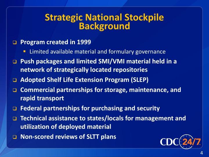 PPT - Strategic National Stockpile PowerPoint Presentation ...