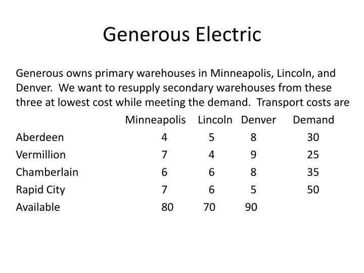 Generous Electric