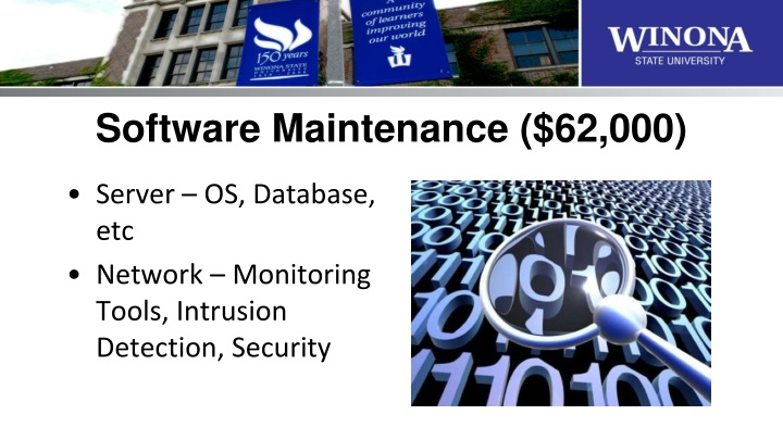 Software Maintenance ($62,000)