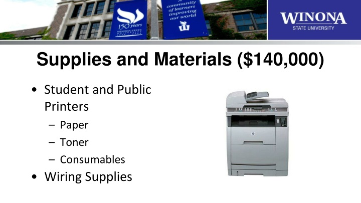 Supplies and Materials ($140,000)