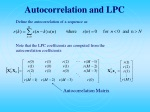 autocorrelation and lpc
