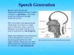 speech generation