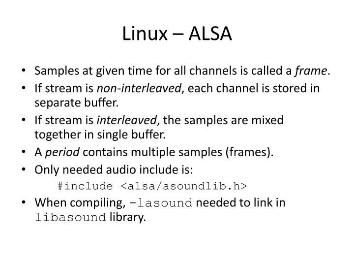 Linux – ALSA
