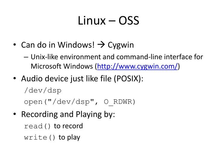 Linux – OSS