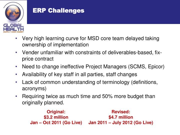ERP Challenges