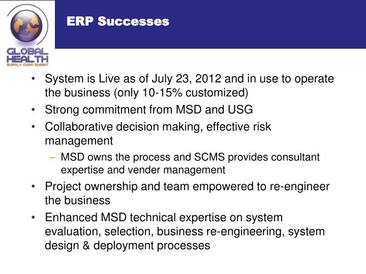 ERP Successes