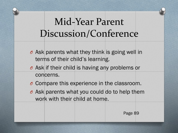 Mid-Year Parent Discussion/Conference