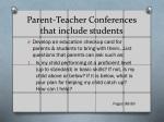 parent teacher conferences that include students
