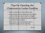 tips for opening the classroom to latino families