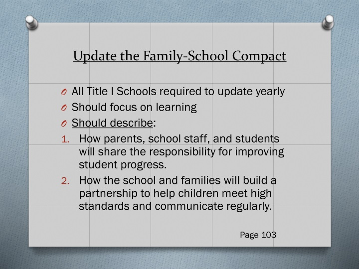 Update the Family-School Compact