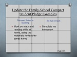 update the family school compact student pledge examples