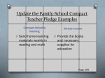 update the family school compact teacher pledge examples
