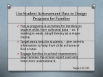 use student a chievement d ata to design p rograms for families