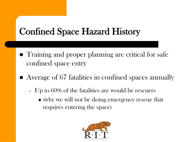 Confined space hazard history