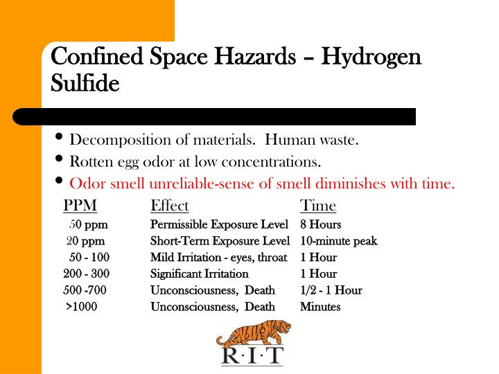 Confined Space Hazards – Hydrogen Sulfide