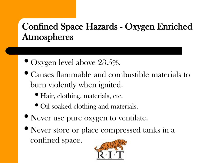 Confined Space Hazards - Oxygen Enriched Atmospheres