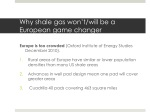 why shale gas won t will be a european game changer