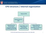 cpo structure internal organization