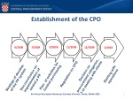 e stablishment of the cpo