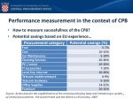 performance measurement in the context of cpb