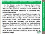 regulating competition without a competition law1