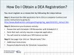 how do i obtain a dea registration
