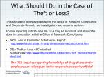 what should i do in the case of theft or loss