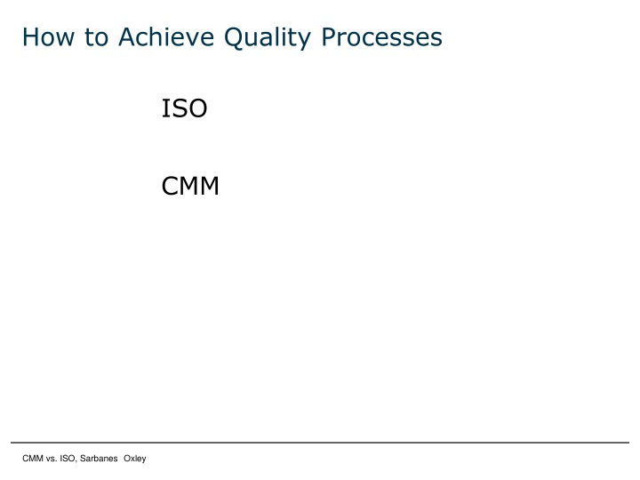 How to Achieve Quality Processes