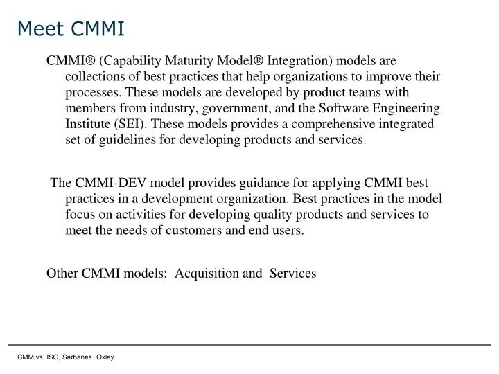 Meet CMMI