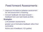 feed forward assessments