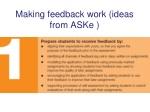making feedback work ideas from aske